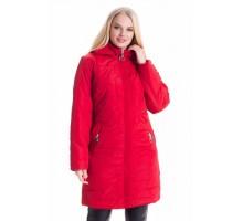 Красная женская демисезонная куртка ЛАНА66119-3
