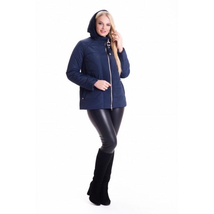 Молодежная синяя куртка весна ЛАНА66124-4