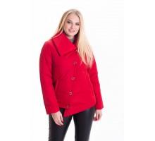 Красная молодежная куртка весна ЛАНА66126-2