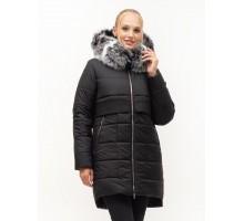 Молодёжная куртка пуховик с натуральным мехом ЛАНА56S-152