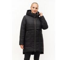 Черная молодежная зимняя куртка ЛАНА24S-152