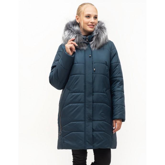 Зимний женский пуховик с мехом ЛАНА6S-154