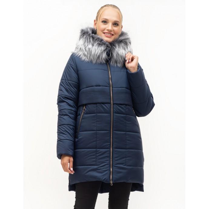 Модный женский теплый пуховик с мехом ЛАНА7S-152
