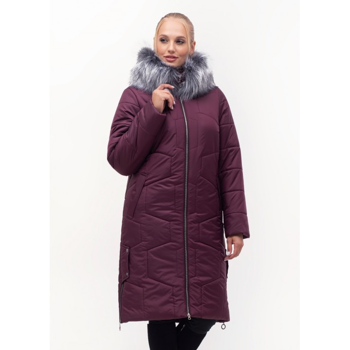 Зимний женский пуховик на молнии ЛАНА12S-149