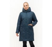 Малахитовая женская куртка без меха ЛАНА38S-155