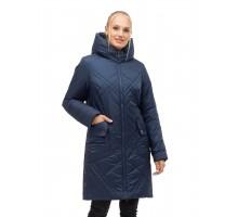 Модный зимний пуховик синего цвета ЛАНА39S-155