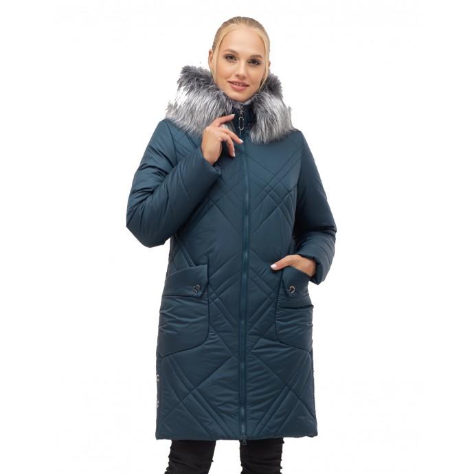 Женский зимний пуховик на молнии ЛАНА17S-155