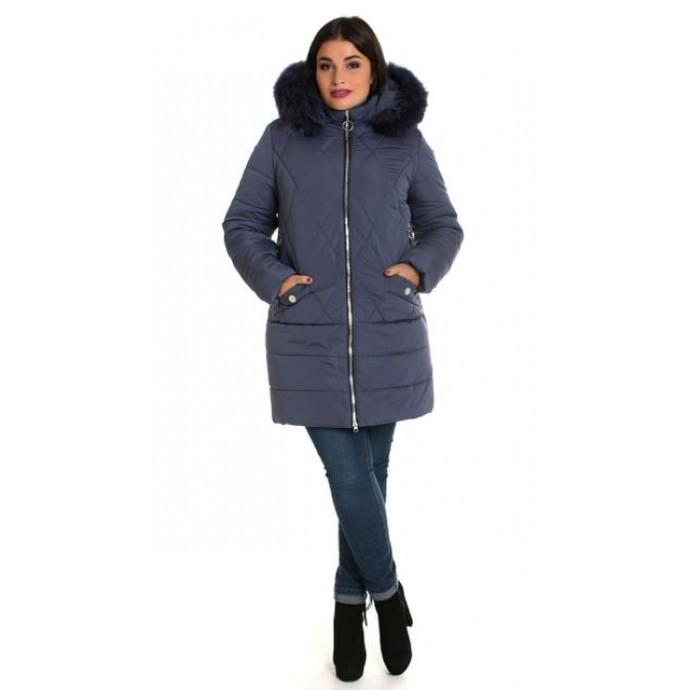 Женская зимняя куртка с мехом ЛАНА6677-49