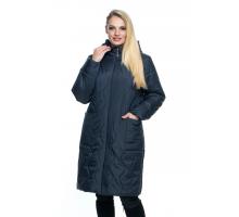 Синяя куртка большого размера лана5r-101