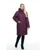 Куртка большого размера марсала лана6r-101
