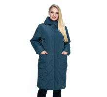 Куртка большого размера малахит лана7r-101