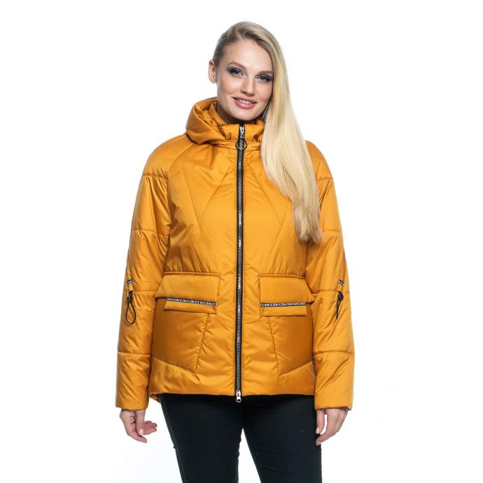 Желтая куртка короткая лана14r-103
