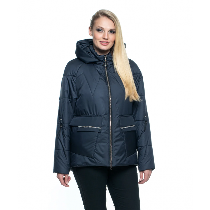 Синяя короткая куртка лана15r-103