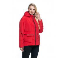 Красная короткая куртка лана16r-103