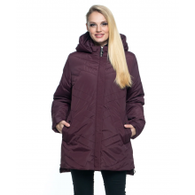 Куртка батального размера цвет марсал лана18r-104