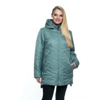 Куртка большого размера цвет мята лана19r-104