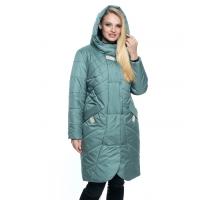 Длинная женская куртка мятного цвета лана11r-106