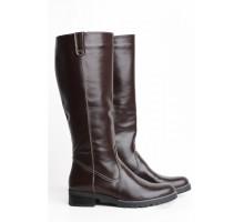 Коричневые сапоги без каблука КИРА1137-2517-04