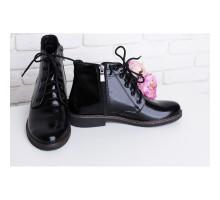 Лакированные ботинки на шнуровке КИРА1179-1018-04chsl