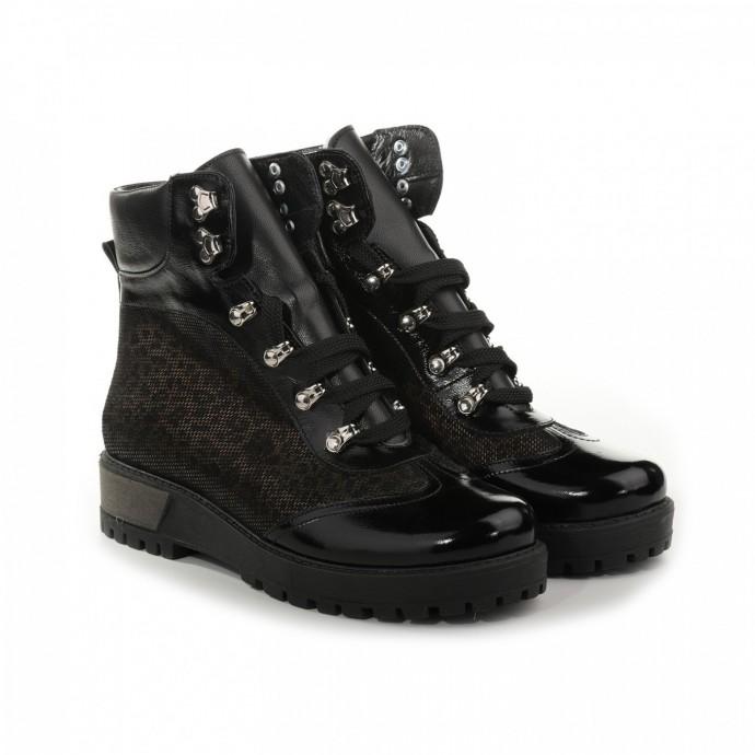 Зимние лаковые ботинки из натуральной кожи КИРА1185-Astra-19