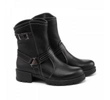 Зимние ботинки на низком каблуке КИРА11100-Tera-02ch