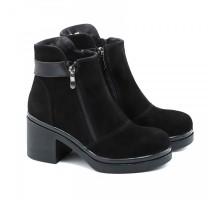Замшевые ботинки на устойчивом каблуке КИРА1166-vm-524-05