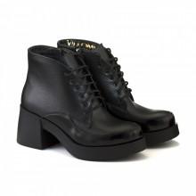 Женские кожаные ботинки на массивном каблуке КИРА1196-524-02