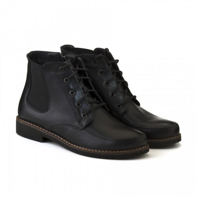 Черные демисезонные ботинки КИРА1178-1018-04k