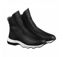 Кожаные ботинки на толстой рельефной подошве КИРА1149-VM-396-01k