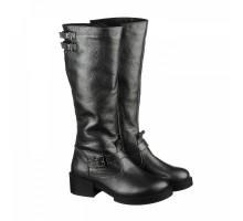 Кожаные женские сапоги на невысоком каблуке КИРА1117-vm-7917-04