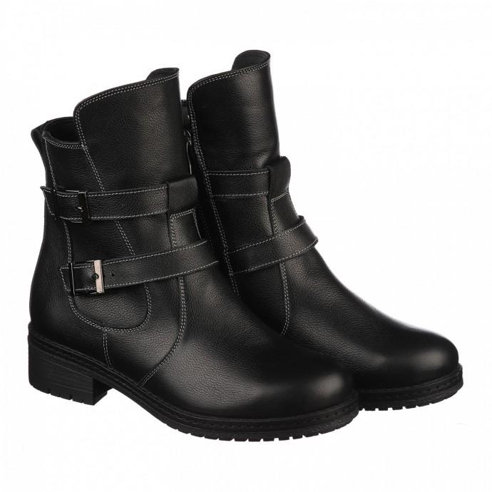 Зимние черные ботинки КИРА1145-vm-tera-01n