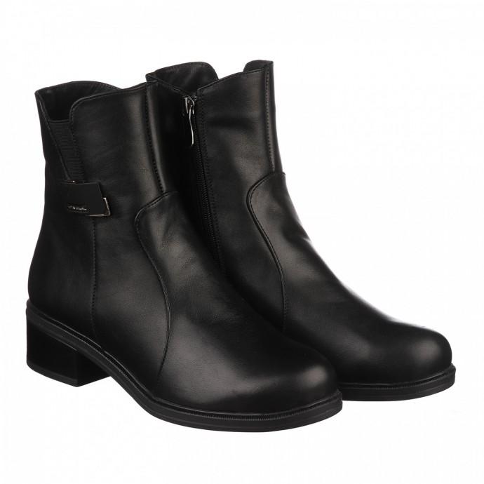 Женские зимние ботинки из натуральной кожи КИРА1143-vm-3004-01n