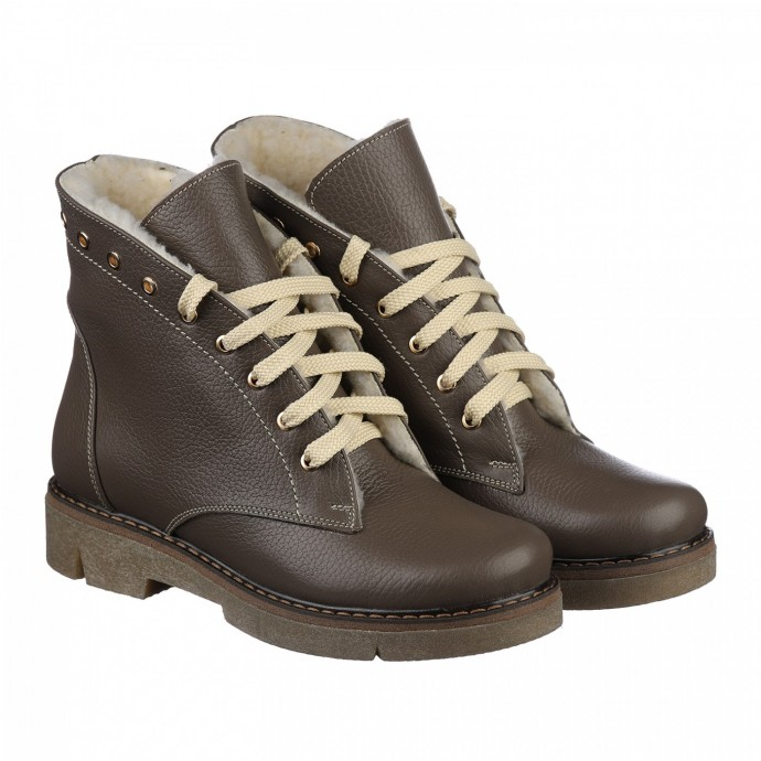 Светлые ботинки на низком ходу КИРА1144-VM-tera-05b-e
