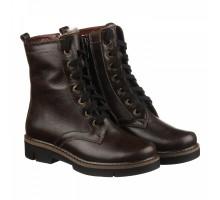 Кожаные зимние ботинки коричневого цвета КИРА1142-vm-astra-01kor