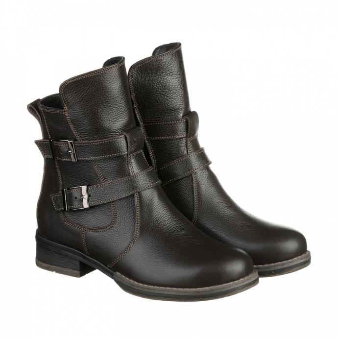 Женские ботинки из коричневой кожи КИРА1198-tera-01k