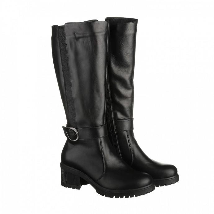 Зимние сапоги с блестящей вставкой на каблуке КИРА1115-vm-4017-05
