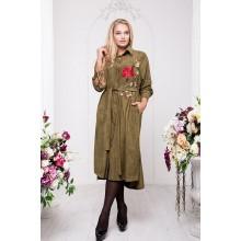 Платье-рубашка с вышивкой РРРА30