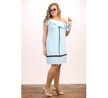 Платье Гламур голубое МИКС707036