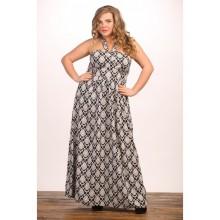 Платье Хадаса черно-белое МИКС707073