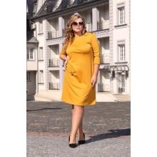 Платье Паола горчица ЯО6057