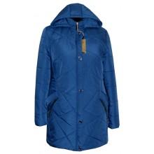 Женская куртка для полных синий ЛАНА4310-81
