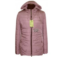 Демисезонная куртка пудра ЛАНА4312-86