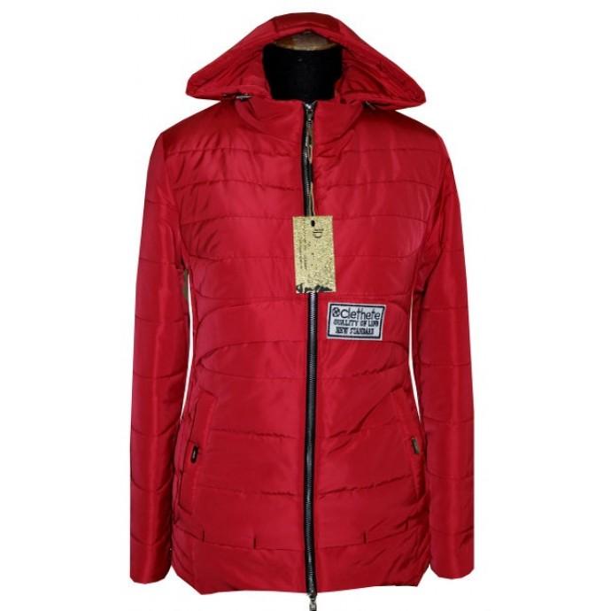 Молодежная куртка красная ЛАНА4314-86