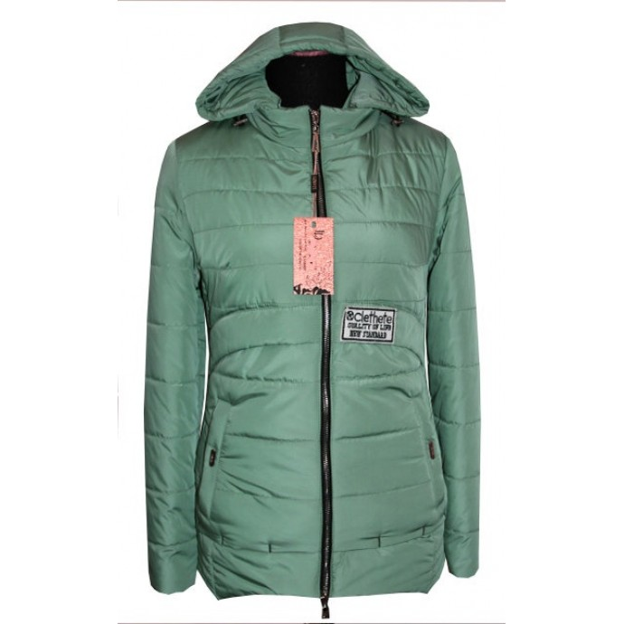 Демисезонная куртка мята ЛАНА4311-86