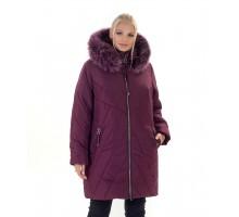 Зимняя короткая женская куртка с мехом ЛАНА77035-138
