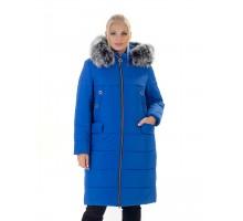 Пальто женское с мехом ЛАНА77053-133
