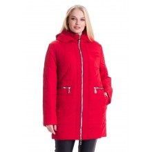 Красная куртка женская осенняя ЛАНА125-79