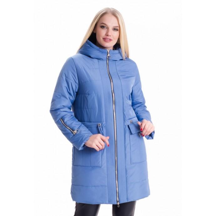 Женская демисезонная голубая куртка ЛАНА66114-5