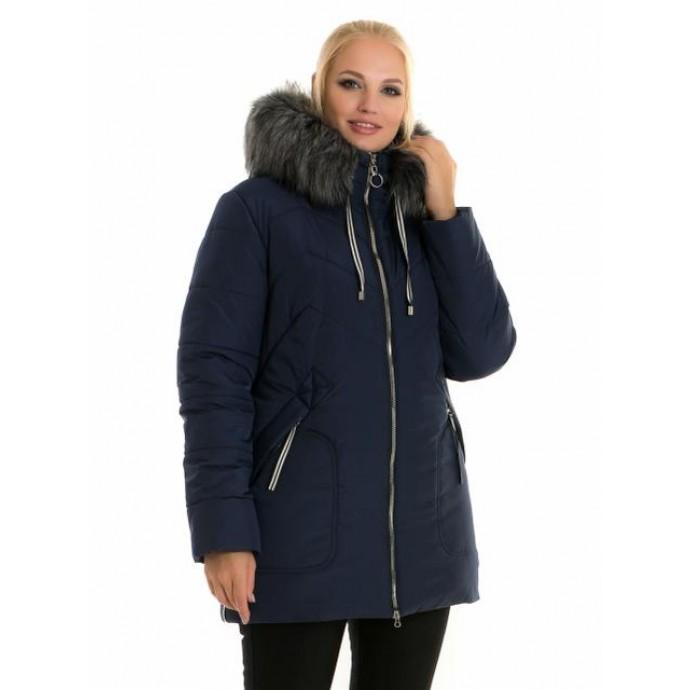 Молодежная женская синяя куртка ЛАНА66109-58