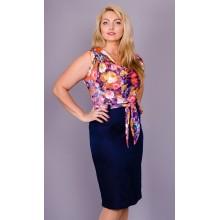 Женское легкое платье Анхель 58-64 размеры КГР796